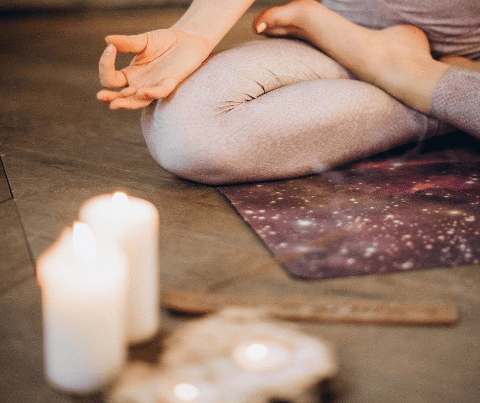 create a home workout space atmosphere candles